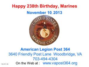 MarineCorps Birthday 11_10_13