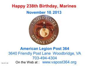 MarineCorps Birthday 11_10_13